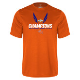 Performance Orange Tee-Southland Conference Indoor Track and Field Champions