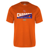 Performance Orange Tee-2017 Southland Conference Mens Track and Field