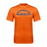 Performance Orange Tee-Arched Football Design