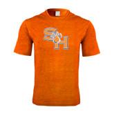 Performance Orange Heather Contender Tee-SH Paw Official Logo