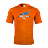 Performance Orange Heather Contender Tee-Track and Field Side Design