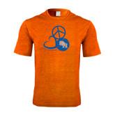 Performance Orange Heather Contender Tee-Volleyball Design