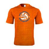 Performance Orange Heather Contender Tee-Volleyball Stars Design