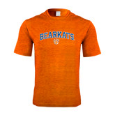 Performance Orange Heather Contender Tee-Arched Bearkats w/Paw