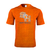 Performance Orange Heather Contender Tee-Softball