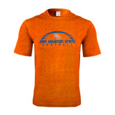 Performance Orange Heather Contender Tee-Arched Football Design