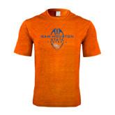 Performance Orange Heather Contender Tee-Tall Football Design