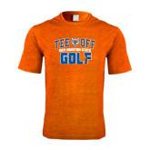Performance Orange Heather Contender Tee-Golf Tee Off
