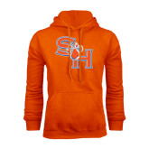 Orange Fleece Hood-SH Paw Official Logo