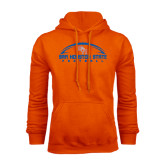 Orange Fleece Hood-Arched Football Design