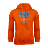 Orange Fleece Hood-Proud To Be A Bearkat Arched