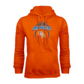 Orange Fleece Hood-Basketball in Ball