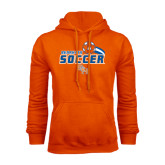 Orange Fleece Hood-Soccer Swoosh