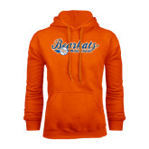 Orange Fleece Hood-Softball Lady Design