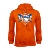 Orange Fleece Hood-Softball Design w/ Bats and Plate