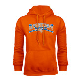 Orange Fleece Hood-Baseball Design