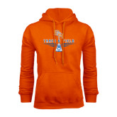 Orange Fleece Hood-Track and Field Design