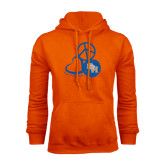Orange Fleece Hood-Volleyball Design