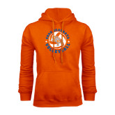 Orange Fleece Hood-Volleyball Stars Design