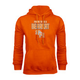 Orange Fleece Hood-Proud To Be A Bearkat