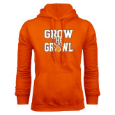 Orange Fleece Hood-Grow the Growl
