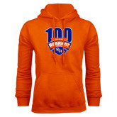 Orange Fleece Hood-100th Football Season