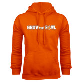 Orange Fleece Hood-Grow the Growl Horizontal