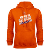 Orange Fleece Hood-Friends Dont Let Friends Wear Purple