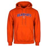 Orange Fleece Hoodie-Arched Bearkats w/Paw