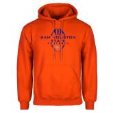 Orange Fleece Hoodie-Tall Football Design