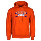 Orange Fleece Hoodie-Baseball Bats