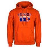 Orange Fleece Hoodie-Golf Tee Off