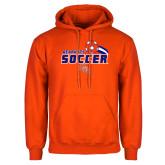 Orange Fleece Hoodie-Soccer Swoosh
