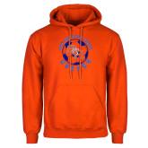 Orange Fleece Hoodie-Soccer Circle