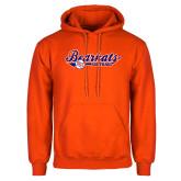 Orange Fleece Hoodie-Softball Lady Design