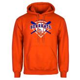 Orange Fleece Hoodie-Softball Design w/ Bats and Plate