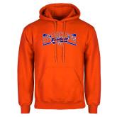 Orange Fleece Hoodie-Baseball Design