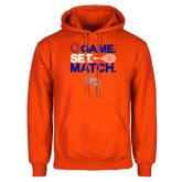 Orange Fleece Hoodie-Tennis Game Set Match
