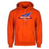 Orange Fleece Hoodie-Track and Field Side Design