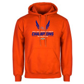 Orange Fleece Hoodie-2017 Southland Conference Mens Track and Field