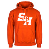 Orange Fleece Hoodie-Primary Athletics Mark