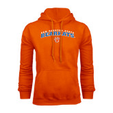 Orange Fleece Hood-Arched Sam Houston State Bearkats w/Paw