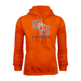 Orange Fleece Hood-Football