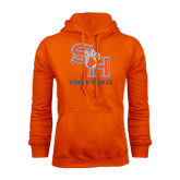 Orange Fleece Hood-Volleyball