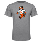 Grey T Shirt-Bearkat Full Body