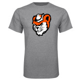 Grey T Shirt-Bearkat Head