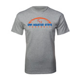 Sport Grey T Shirt-Arched Football Design