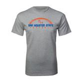 Sport Grey T Shirt-Arched Football Design