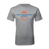 Sport Grey T Shirt-Tall Football Design