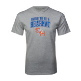 Sport Grey T Shirt-Proud To Be A Bearkat Arched